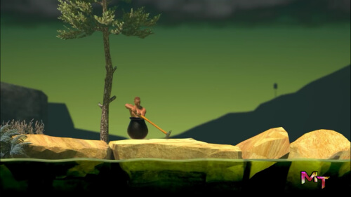 first screen shot of playing getting over it apk game