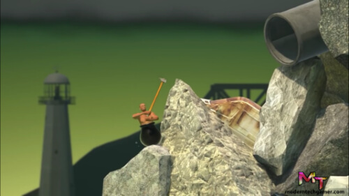 third screen shot of playing getting over it apk game