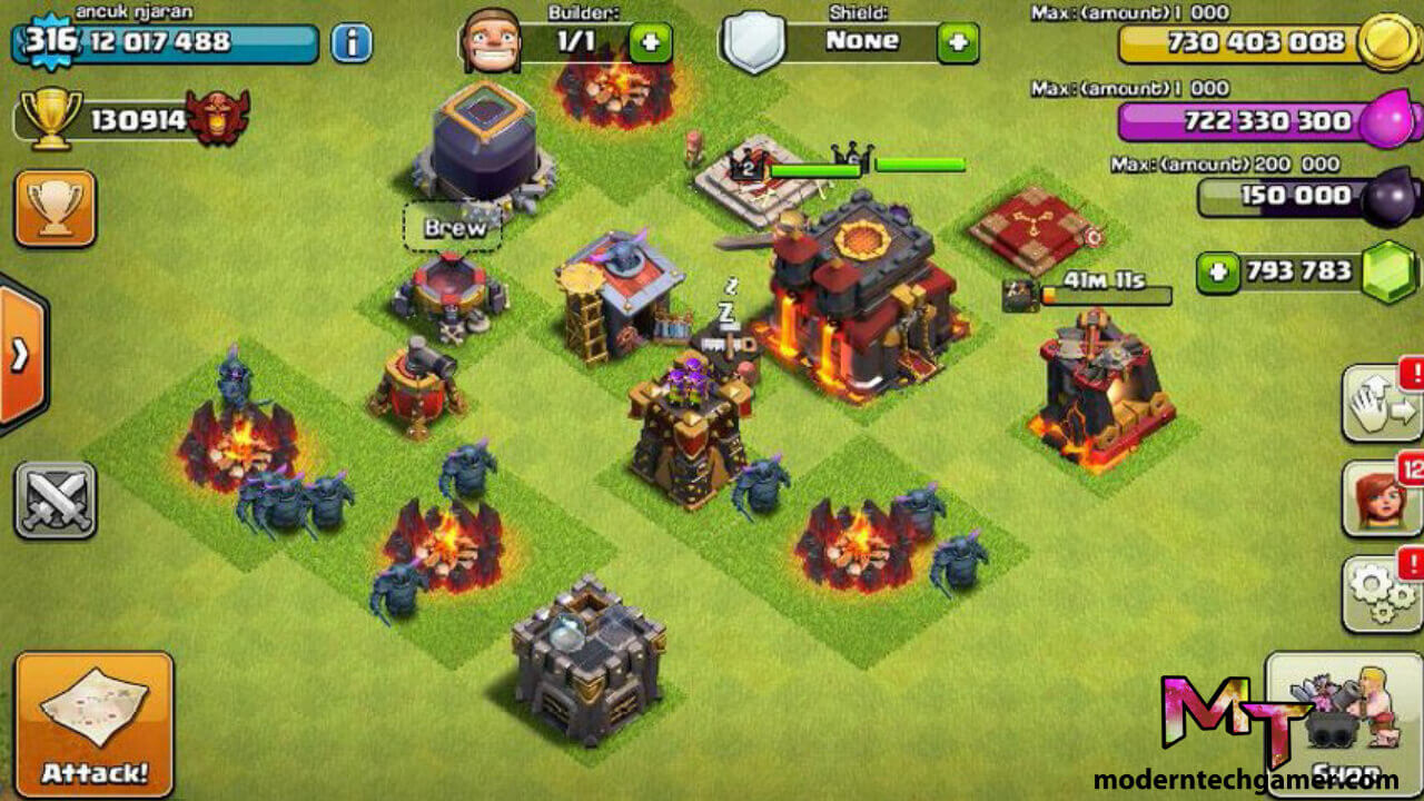clash of clans mod apk gameplay