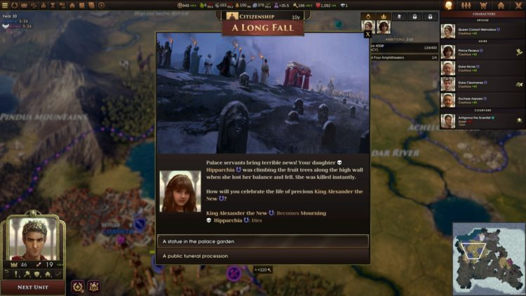 Old World Early Access Preview Impressions 4x Civilizations Crusader Kings Alexander Daughter Death
