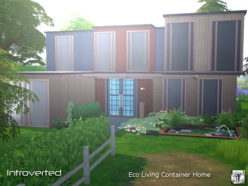 Introverted Eco Living Container The Sims 4 Eco Friendly Mods