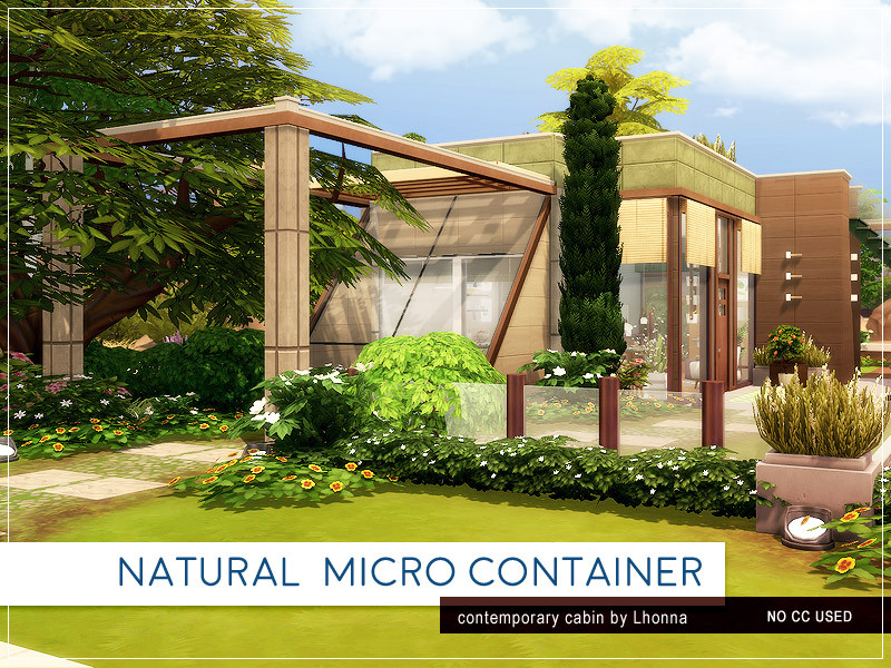 Natural Micro Container The Sims 4 Eco Friendly Mods