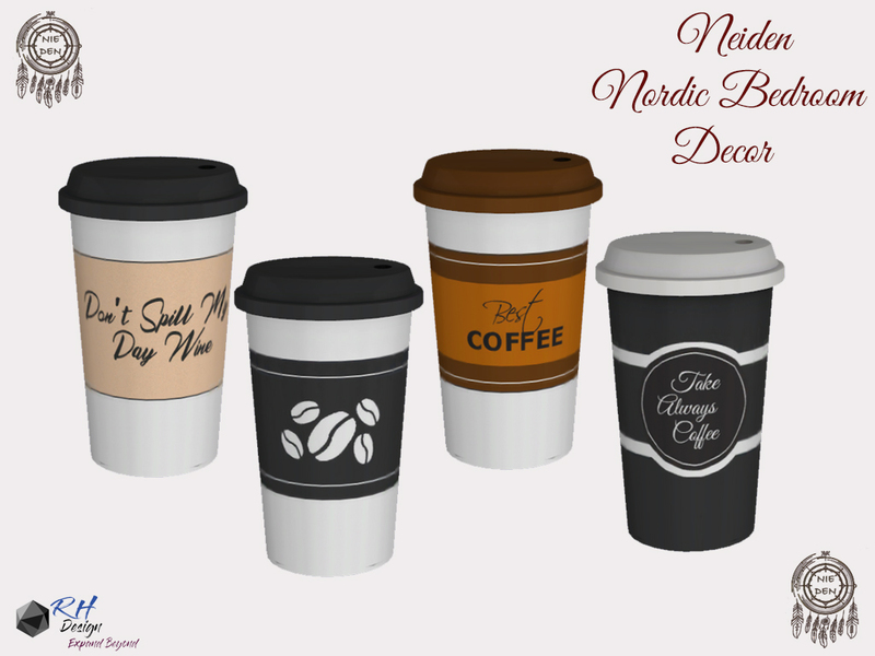 Neiden Paper Coffee Cup With Layers The Sims 4 Eco Friendly Mods