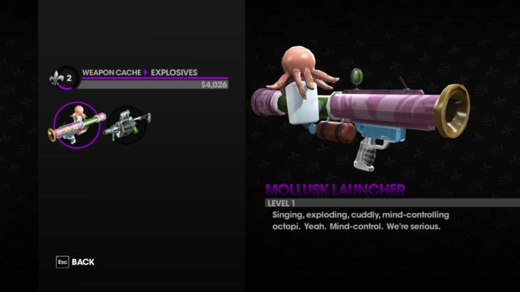 Saints Row the third remastered technical review - weapon old