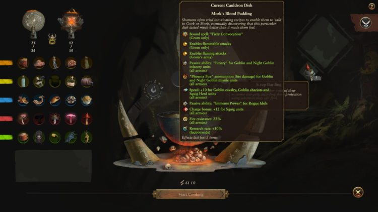 Total War Warhammer Ii The Warden And The Paunch Warhammer 2 Grom's Cauldron Guide Grom's Cauldron Recipes Ingredients 3bb