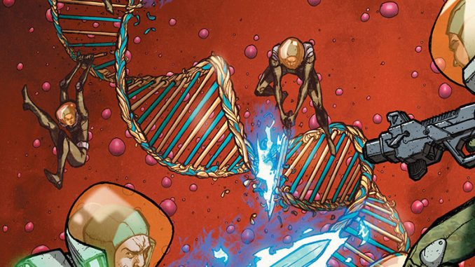 X-O Manowar takes the fight back to the Armorines in issue #32