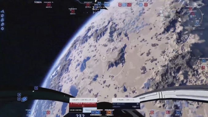 Dual Universe trailer shows off ship-on-ship PvP with battle damage