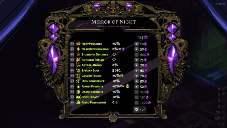 Hades Mirror Of Night Upgrades Fated List Of Minor Prophecies Guide 2