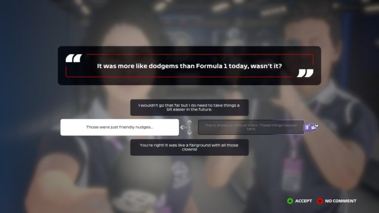 F1 2020 Increase Acclaim Press Interview Questions Answers 4