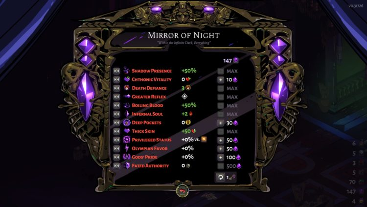 Hades Mirror Of Night Upgrades Fated List Of Minor Prophecies Guide 1