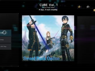 Sword Art Online: Alicization Lycoris – CUBE tickets, CUBE Shop cosmetics, and daily quests
