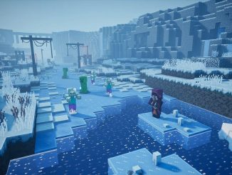 Daily trials and slippery surfaces arrive with Minecraft Dungeons Creeping Winter DLC
