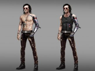 Cyberpunk 2077 concept art shows an early Johnny Silverhand