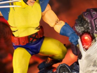 Mezco revisits blue and yellow suited Wolverine for new deluxe