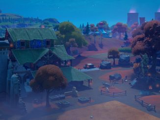 Where to place warning signs at a crop circle for the Fortnite Quest