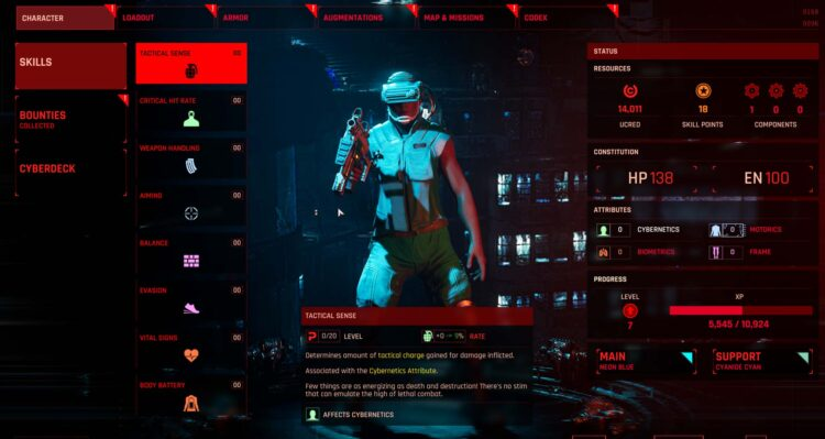 The Ascent Review Gameplay Pc Skills Menu