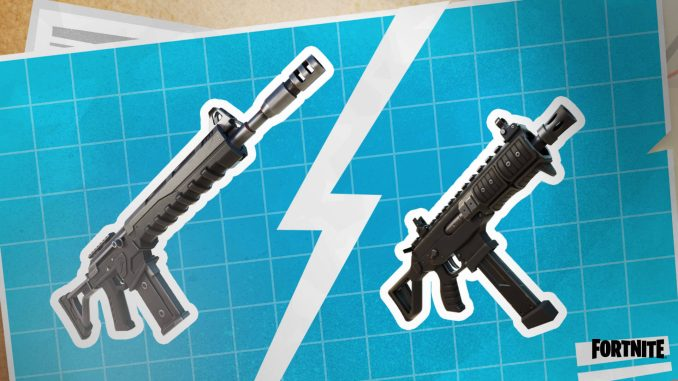 Fortnite donation boards feature combat assault rifle and submachine gun